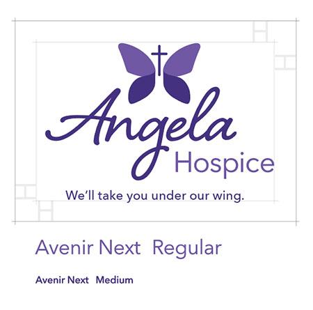 Angela Hospice Logo Style