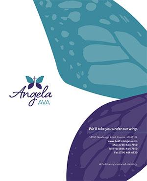 Angela Hospice Print Blue