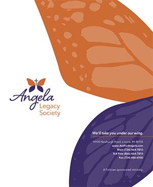 Angela Hospice Print Orange