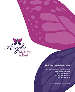 Angela Hospice Print Pink