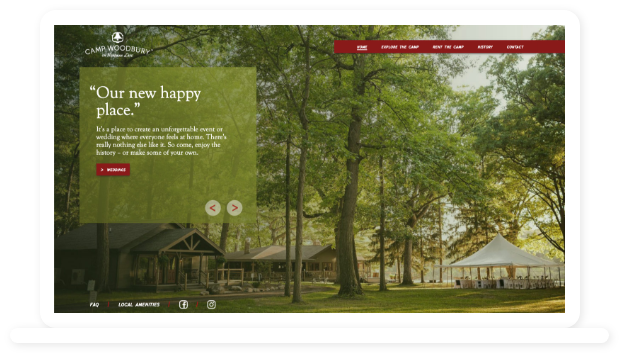 Camp Woodbury Website Home page