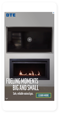 DTE Fueling Moments ad on phone